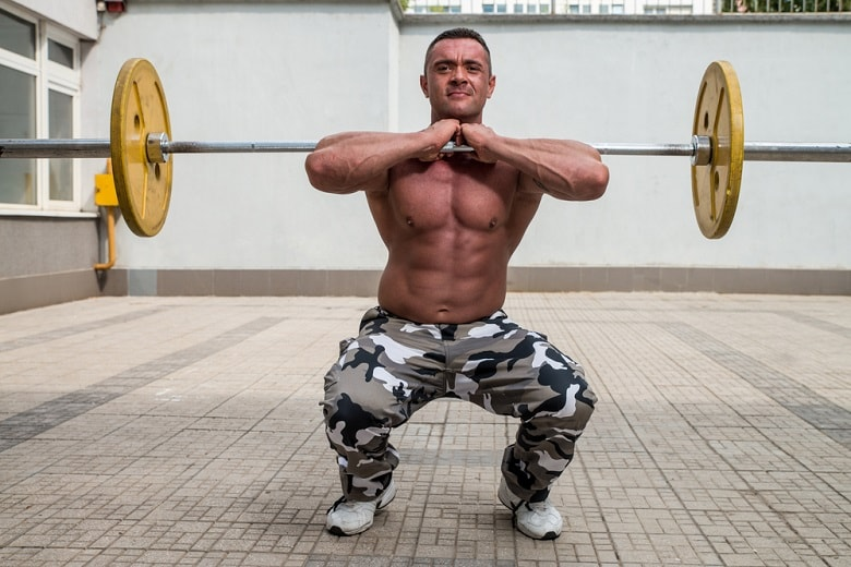Front squat military workout routine