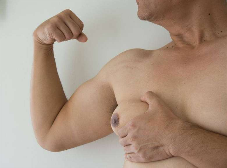Do self examination to identify gynecomastia