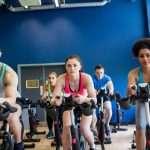 Spinning workout class