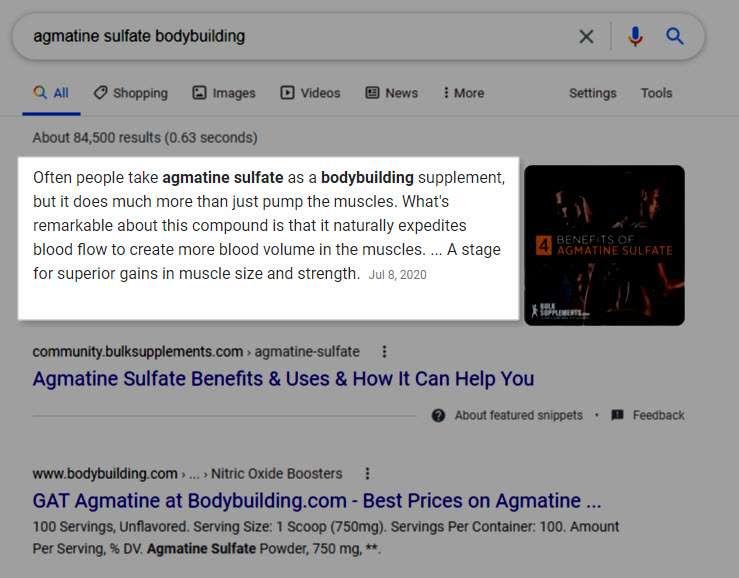 agmatine sulfate bodybuilding