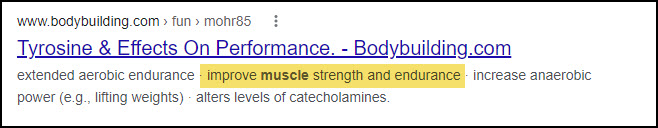 l-tyrosine muscle building blackstone
